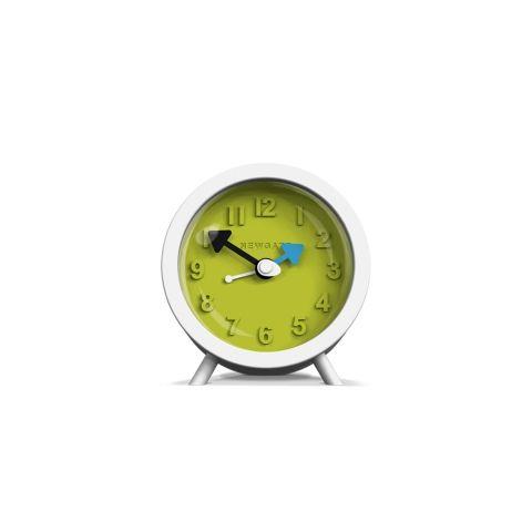 The Fred Alarm Clock in Pebble White by Newgate Clocks.   A modern and contemporary alarm clock.  Iconic British design | www.newgateclocks.com  #homeware #decor #interior #home accesory