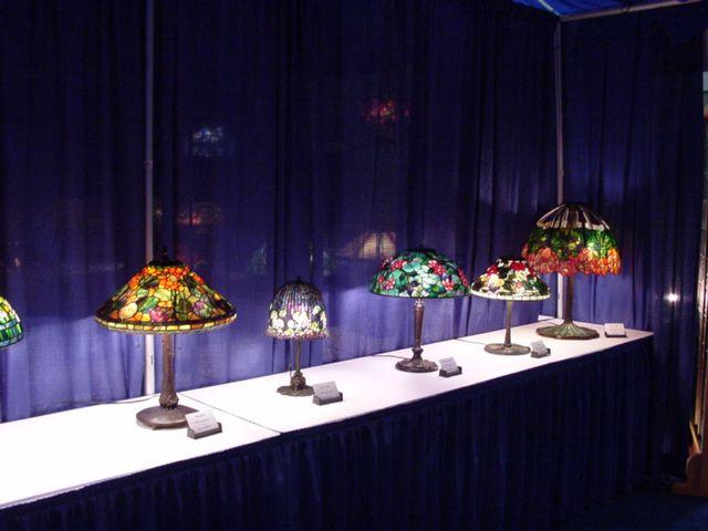 ASGLA Lamp Display At The Portland Art Glass Show