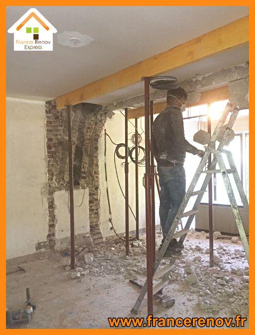 Ouverture de mur porteur et pose d\u0027 IPN à Lomme Extension de - Pose Beton Cellulaire Exterieur