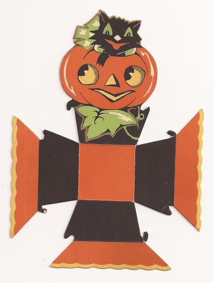 vintage 1930s gibson halloween black cat jack o lantern party candy nut cup ebay