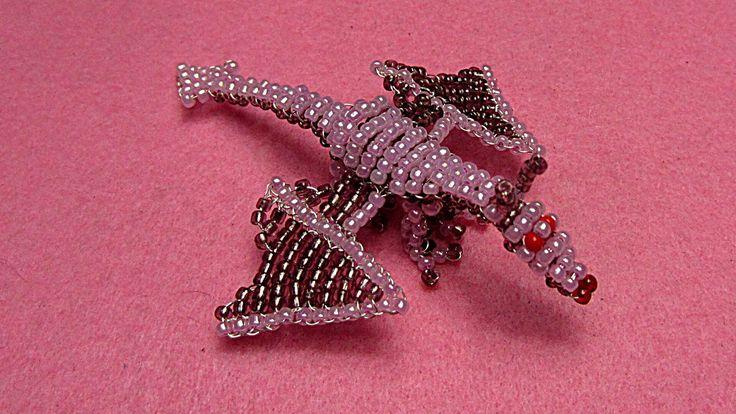 Bébé Dragon en perles de rocaille et tissage 3D - Perlotines.fr
