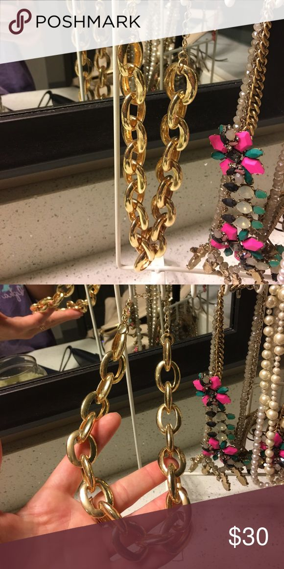 J. Crew Chunky Gold Necklace In great condition and only worn once! J. Crew Jewelry Necklaces
