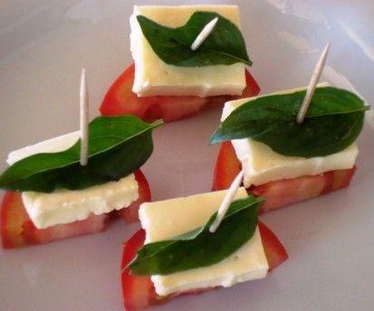 Tomato mozz and basil bites