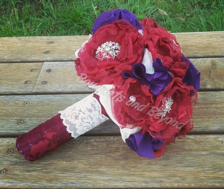 Allergy free and everlasting alternative bouquet. Custom made with brooch centres. Bouquet from bouquets and beyond