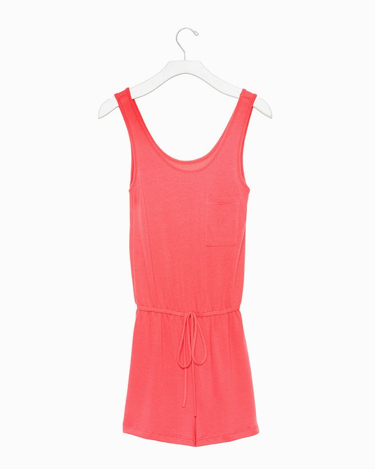 Downtime Romper (Coral)
