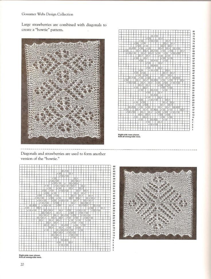Bowtie Lace pattern. Orenburg Lace Knitting. Gossamer Webs ~~ _20_.jpg