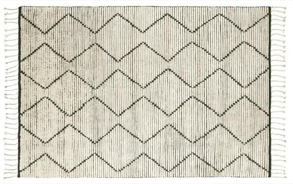 The Nala Natural & Slate Berber Knot floor rug by Armadillo is hand woven in India. Made from Wool. A$460 - A$1440.