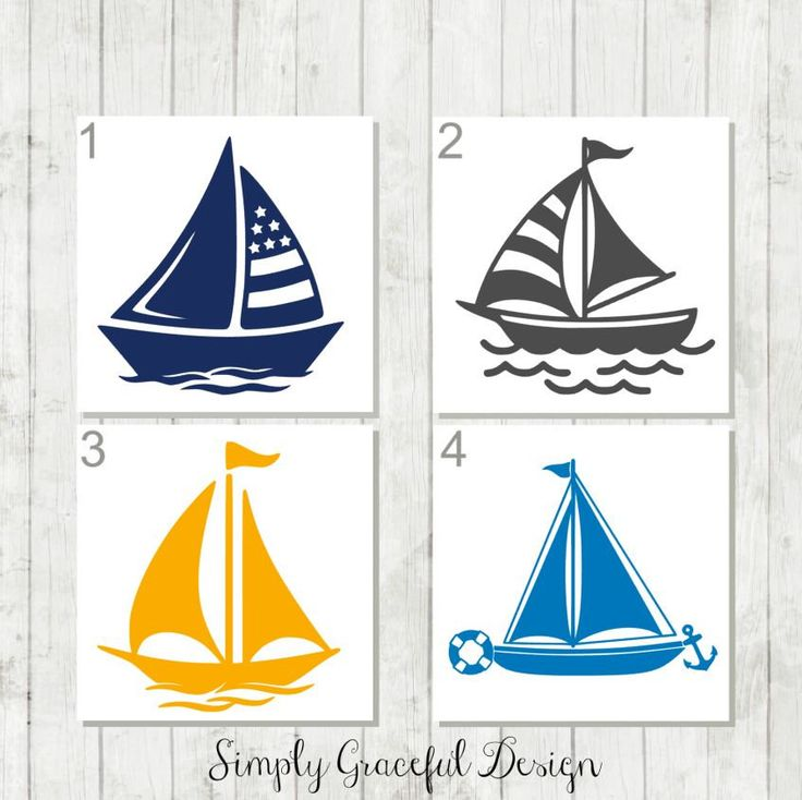 Sail Boat Decal - Nautical Boat Decal - Boating Decal - Sailing Decal - Sail Boat Yeti Decal - Boat Decor - Gift for Sailor - Nautical Decal by SimplyGracefulDesign on Etsy