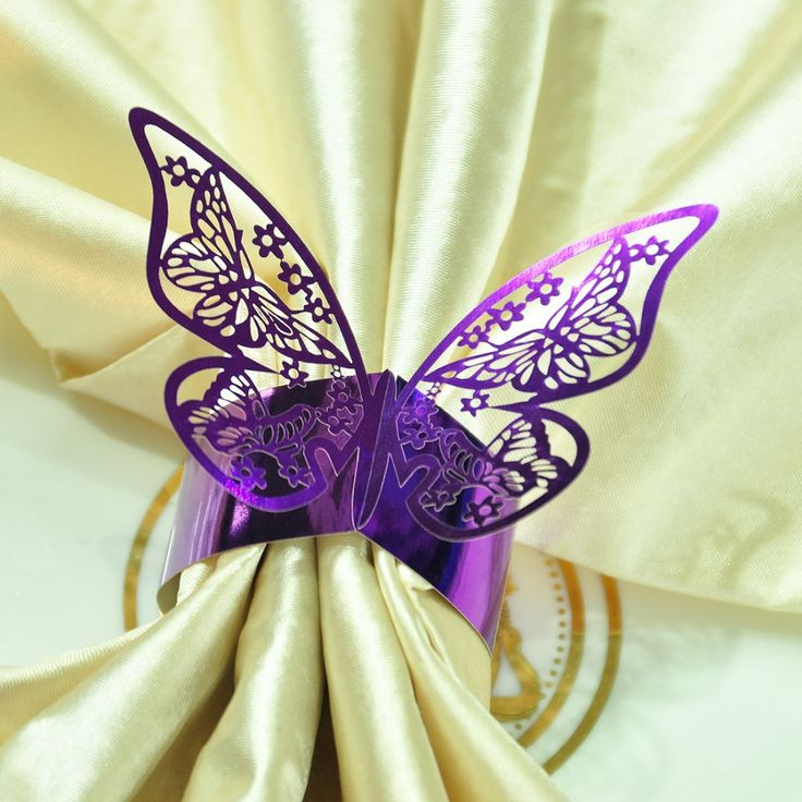 Бесплатная доставка 12 шт. фиолетовый свадьба ну вечеринку украшения кольца для салфеток держатели Porta Guardanapo душа ребенка держатели стол декор