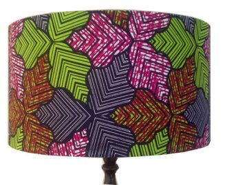 Multicoloured Forest Leaves Lampshade, Blue Green Pink Brown, 45cm Large Shade, Kitchen Dining Ceiling Floor lamps shade, Detola and Geek