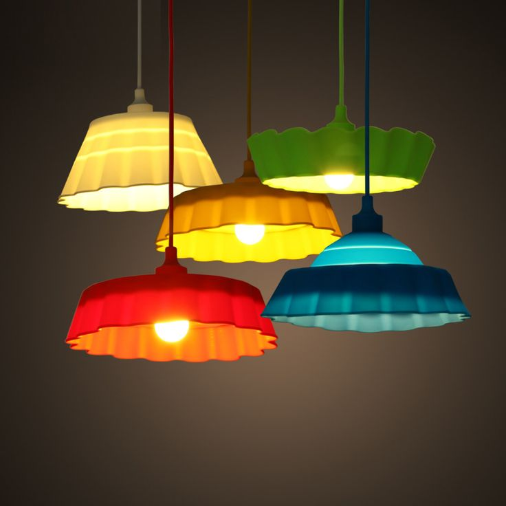 Ceiling Lights Collapsible Colorful Silicone Pendant Light $42.99