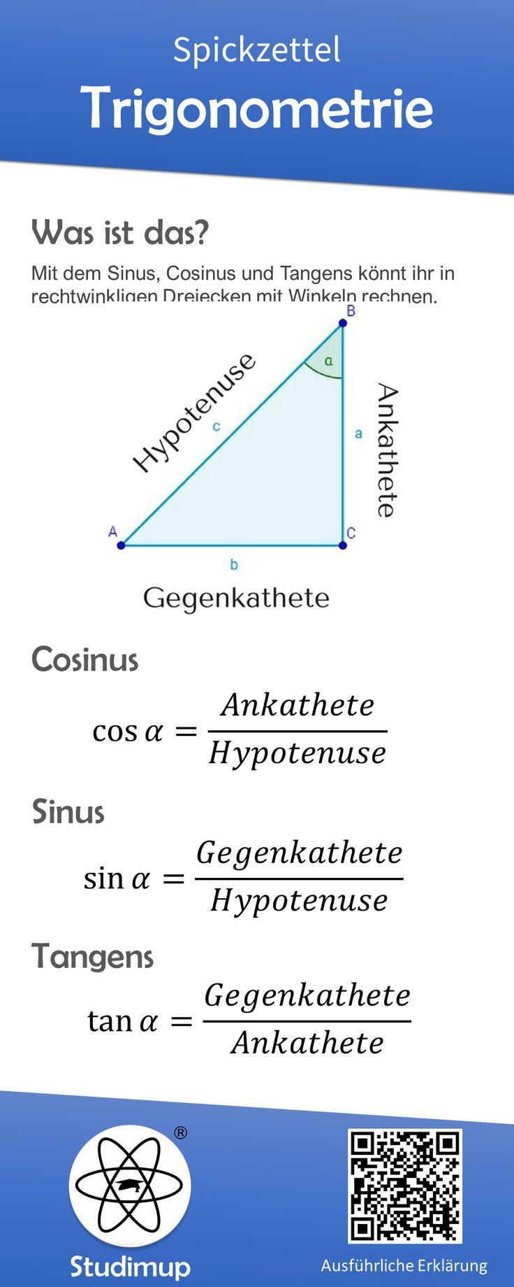 Trigonometrie Mathe Spickzettel