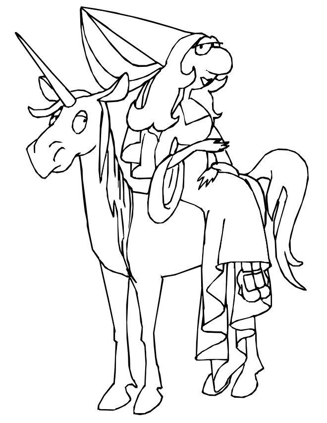 unicorn princess coloring pages - photo#12