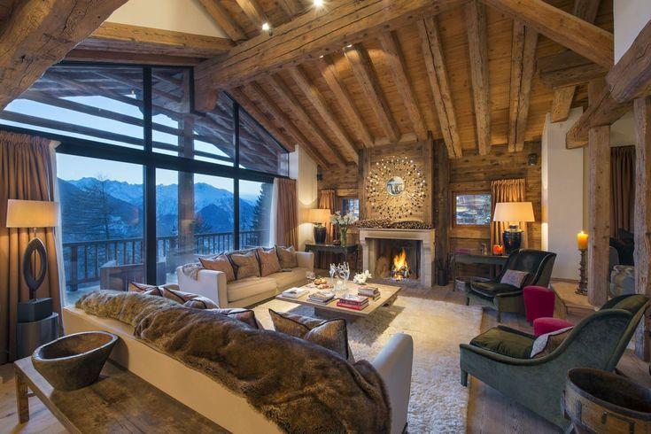 Luxury Ski Chalet Holidays Verbier Catered Chalets In Verb Luxury Ski Chalet Holidays Verbier Catered Chal Ski Chalet Chalet Interior Design Luxury Ski