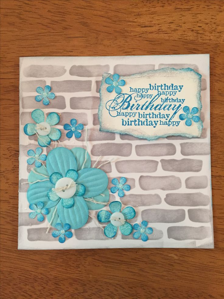 Handmade Birthday card with Tim Holts Distress inks