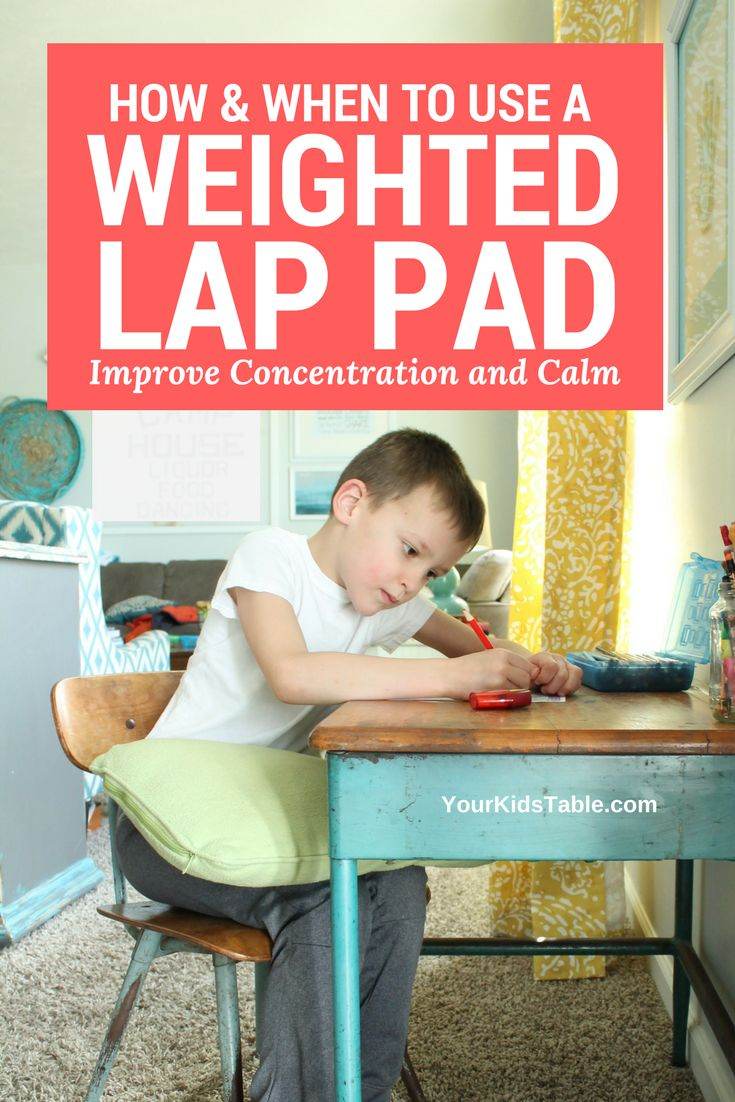 Weighted lap pads can be an amazing sensory tool or toy to help improve your child's attention, focus, or ability to calm down and relax. Learn if one is right for your child. Plus, find out where to get one or how to make your own DIY weighted lap pad. #sensory #sensoryactivities  #kids