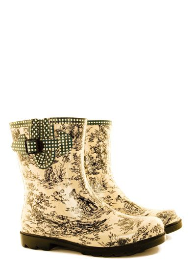 Tamara Henriques Toile Mini short rubber boot from Pipduck now in stock. $110