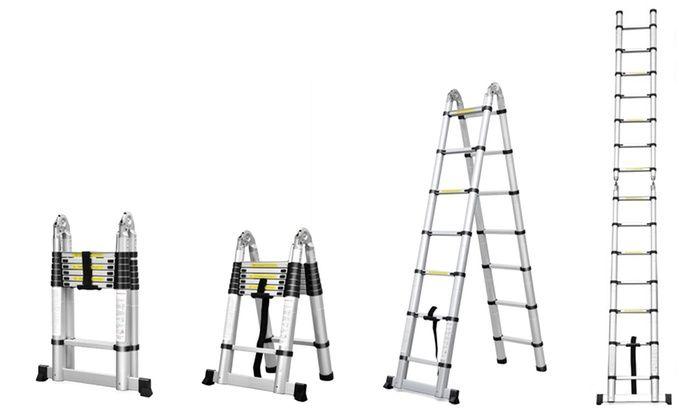 Ever Mercantile Limited: Echelle télescopique avec hauteur modulable, taille au choix, livraison offerte