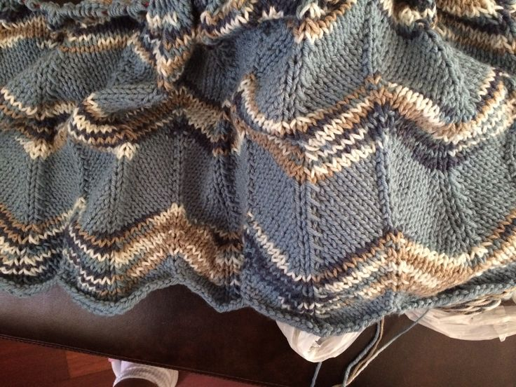 Ripple Afghan Knitting Pattern Free : 17 Best images about Knitting in Progress on Pinterest Free pattern, Cable ...