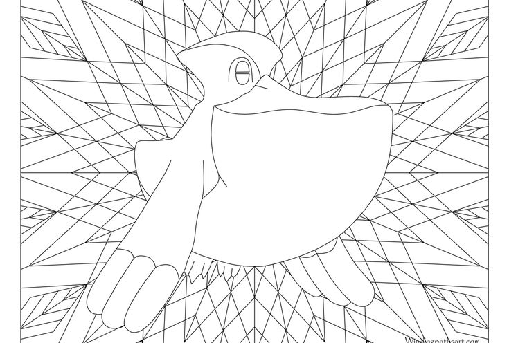 Adult Pokemon Coloring Page Pelipper 279 Pokemon Coloring