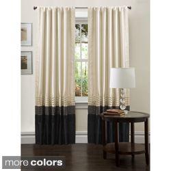 Lush Decor Mia 84 Inch Curtain Panel Pair By Lush Decor