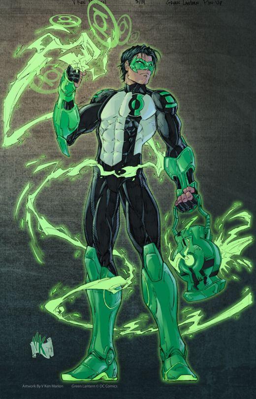 Green Lantern Kyle Rayner by V Ken Marion.