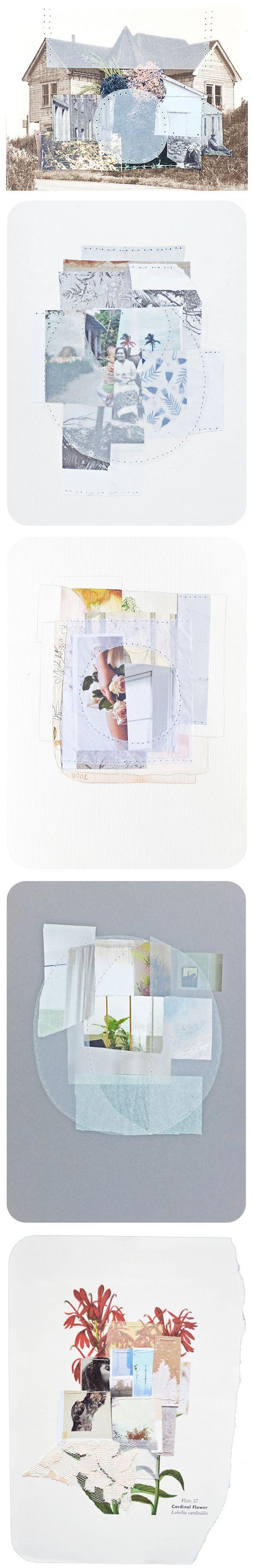 sewn collages by linden eller