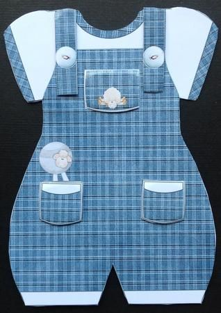 Baby Boy Romper Suit Shaped Card in Card Gallery | Baby ...