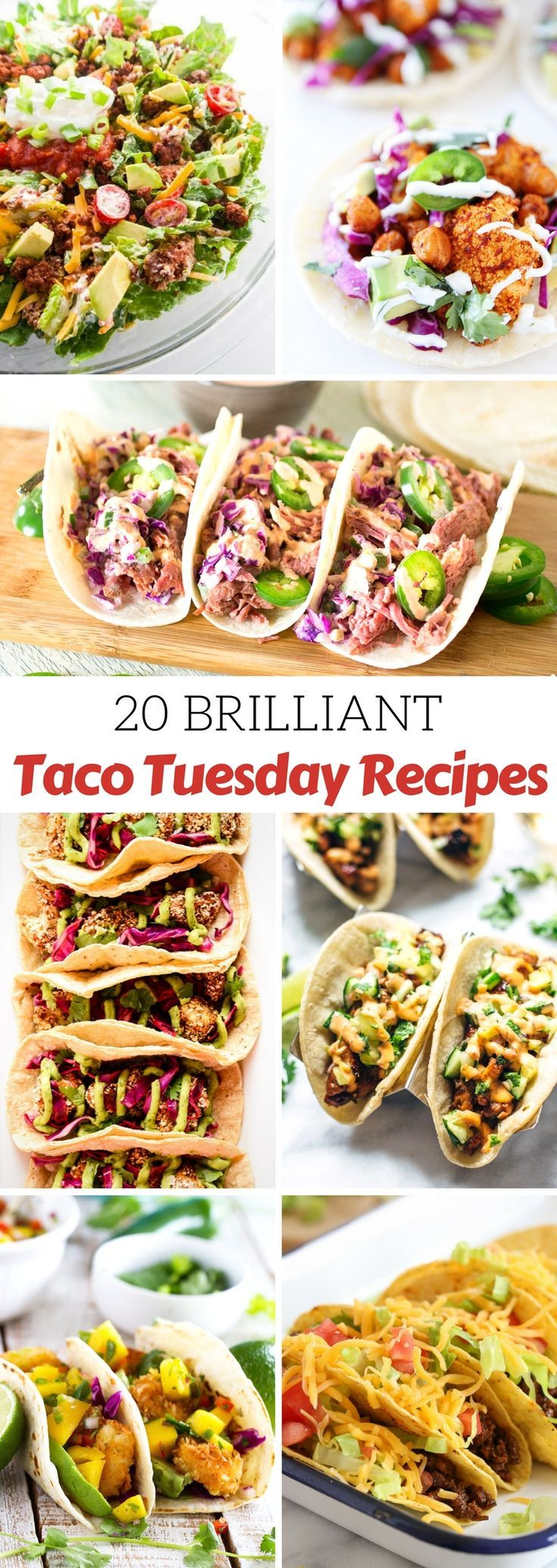 Up your Taco Tuesday game with this fabulous collection of 20 of the best and most beautiful tacos... just in time for Cinco de Mayo!