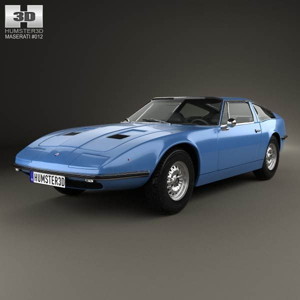 Maserati Indy 1969 3d model from humster3d.com. Price: $75