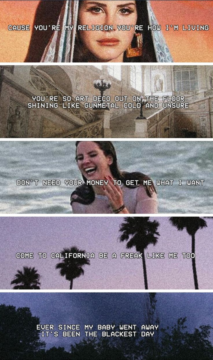 Lana Del Rey #LDR #lyrics (songs from Honeymoon)