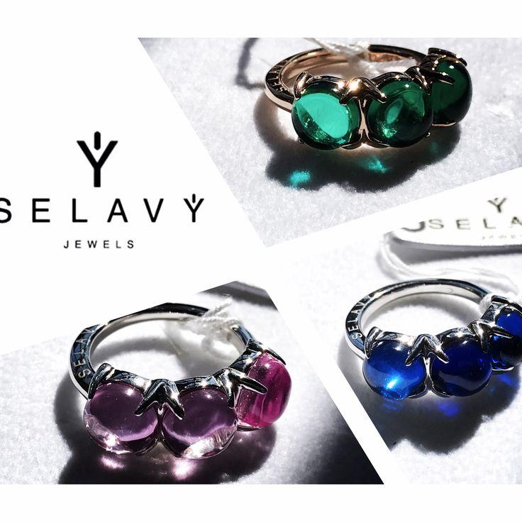 """SELAVY' JEWELS anello trilogy collezione """"Boule"""" . Argento 925 in tre colori e quarzi idrotermali in sette colorazioni. Ventuno varianti femminili. Visita il nostro on line store www.selavyjewels.com/selavy-store/ #selavy #selavyjewels #argento #cabochon #design #madeinitaly #moda #design #ecommerce #elegance #glamour #womanstyle #luxury"""