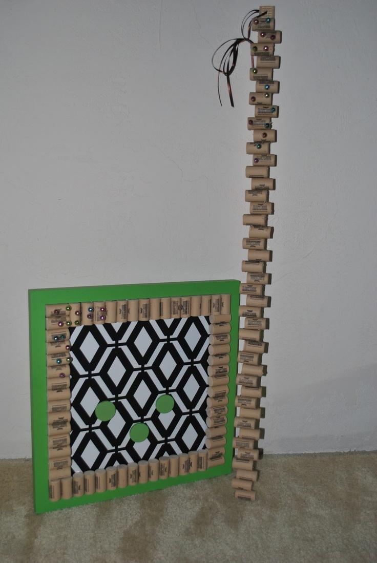 Bulletin Board Cork project using Sleepy Creek corks!