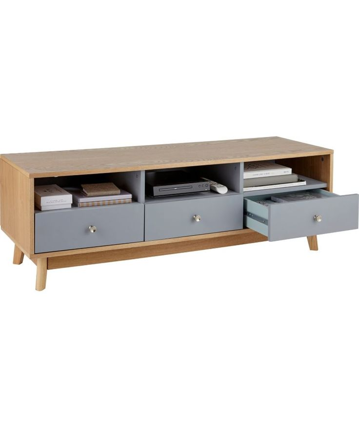 Buy Foley 3 Drawer TV Unit - Grey at Argos.co.uk - Your Online Shop for Entertainment cabinets and units.