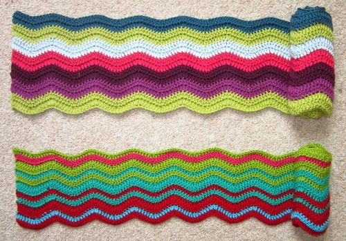 a great blog post about making a blanket, choosing colors, size, etc