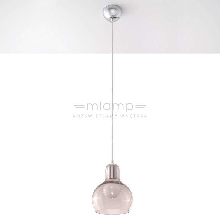Szklana LAMPA wisząca SOL SL.232 kulista OPRAWA zwis chrom przezroczysty