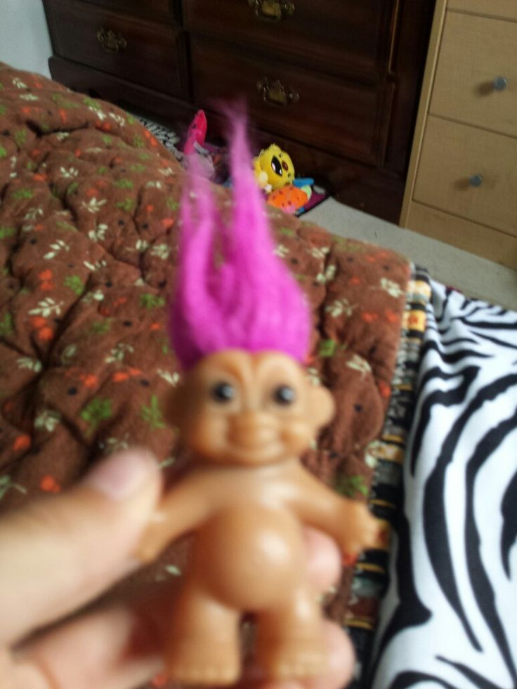 My new troll I got in a girls grab bag at a store.