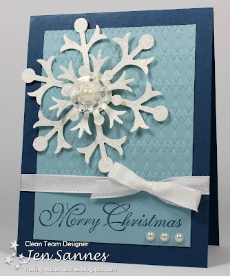 Simple & Sincere: FMS #52 Pick a Sketch!Cards Crafts Christmas, Christmas Cards, Cards Christmas Snowflakes, Snowflakes Cards, Bigz The, Christmaswint Cards, Classy Christmas, 52 Pick, Snow Flurry