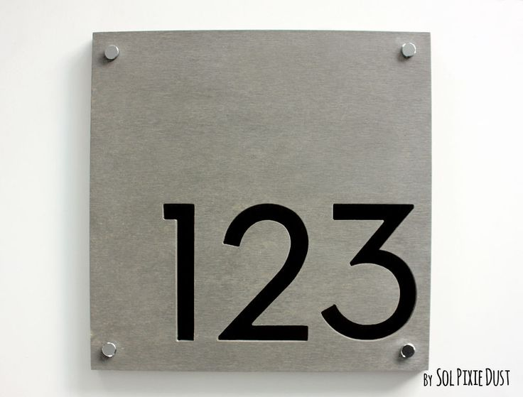 22 best number signs images on pinterest house numbers for Front door number plaques