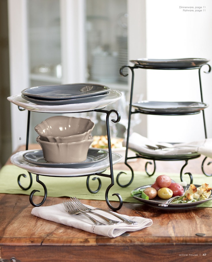 Riverstone and ornate iron tiered stands by Willowhouse & 45 best Dish server Cast iron Stand images on Pinterest | Wrought ...