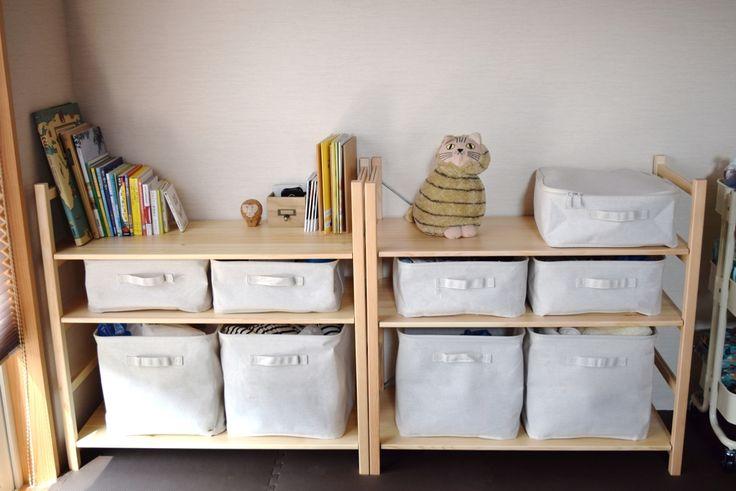 無印良品のパイン材ユニットシェルフソフトボックスで自由自在に収納マイ定番スタイル