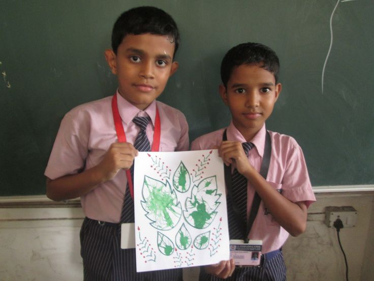 A blow painting activity  by the students of class 4, Romesh and Anand displaying their creative art. #students #chart paper #activity  #enjoy #colourful #fun #happy