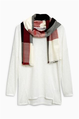 Buy Ecru Scarf Layer Top from the Next UK online shop