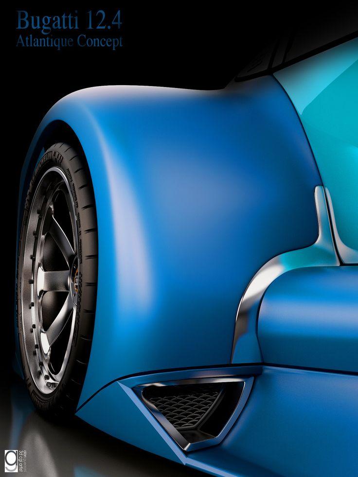 Bugatti 12 4 Concept Car By Alan Guerzoni Transport 3d