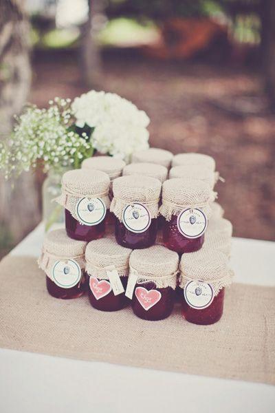 Wedding favors ~ jams & jellies // Real Weddings: Melissa and Adams Backyard Saskatchewan Wedding