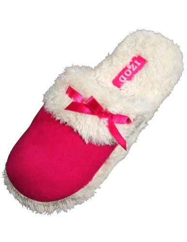 Izod - Ladies Mule Slipper, Fuchsia 32437-S5-6 Item 32437. Izod. True to Size.  #IZOD #Shoes