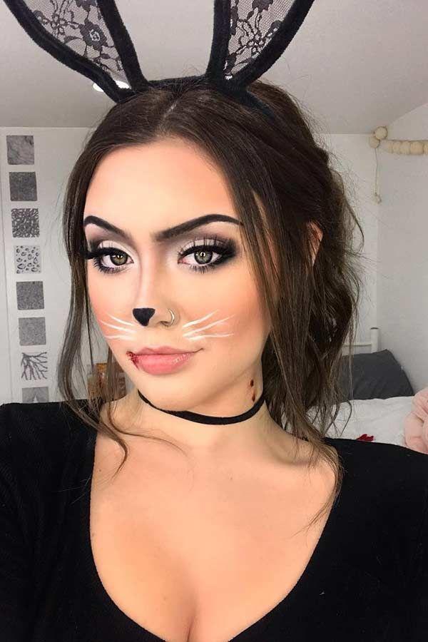 Halloween Bunnys 2020 23 Bunny Makeup Ideas for Halloween in 2020 | Bunny makeup