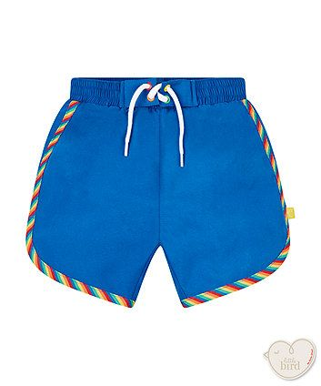 89574a10c281 Order a little bird by Jools rainbow stripe swim shorts today from  Mothercare.com.