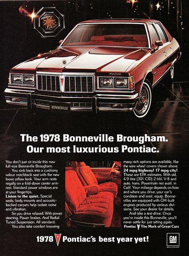 1978 Pontiac Bonneville Brougham Four Door Sedan