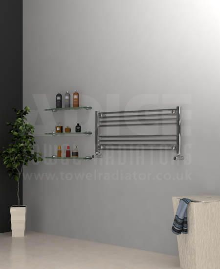 Show details for 1000/400mm Chrome Flat Towel Radiator